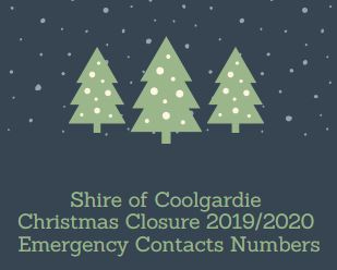 Christmas Closure Contacts 2019/2020