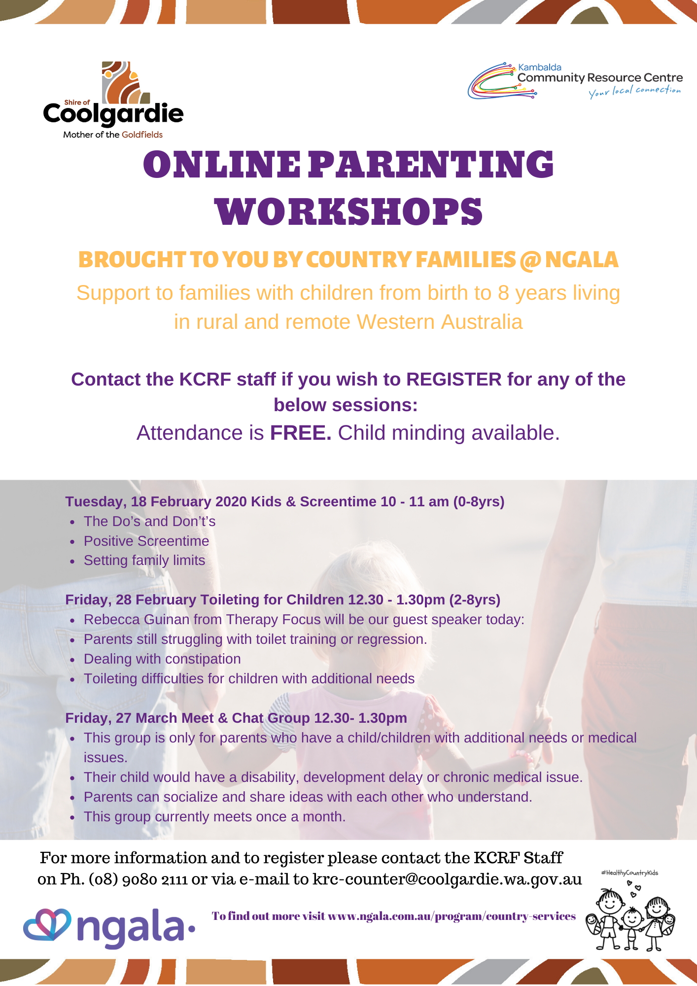Online Parenting Workshops by Country Families@NGALA