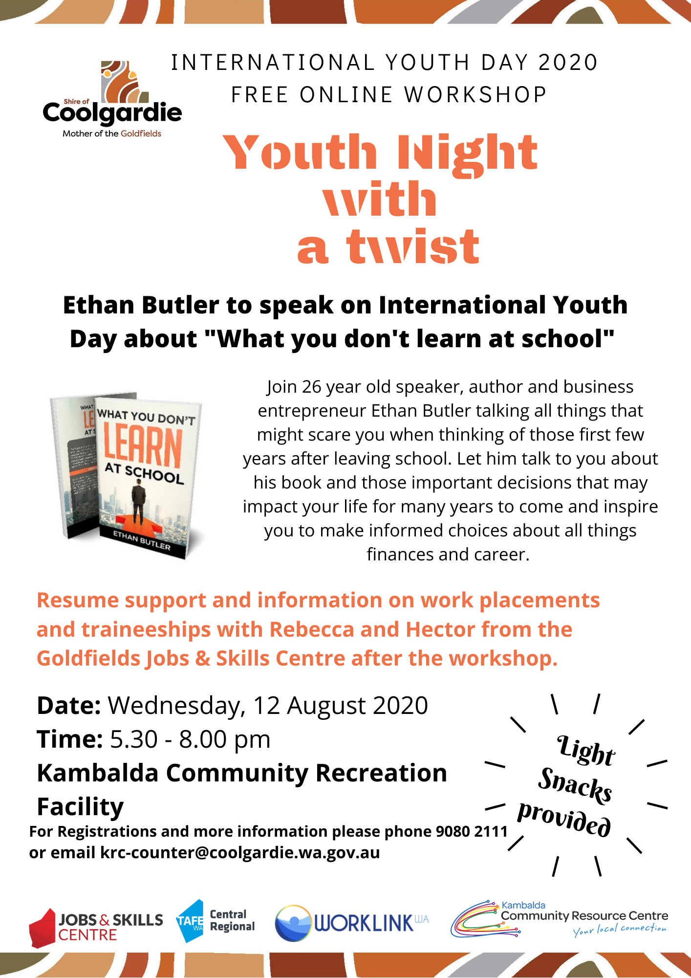 YOUTH NIGHT with a twist for International Youth Day